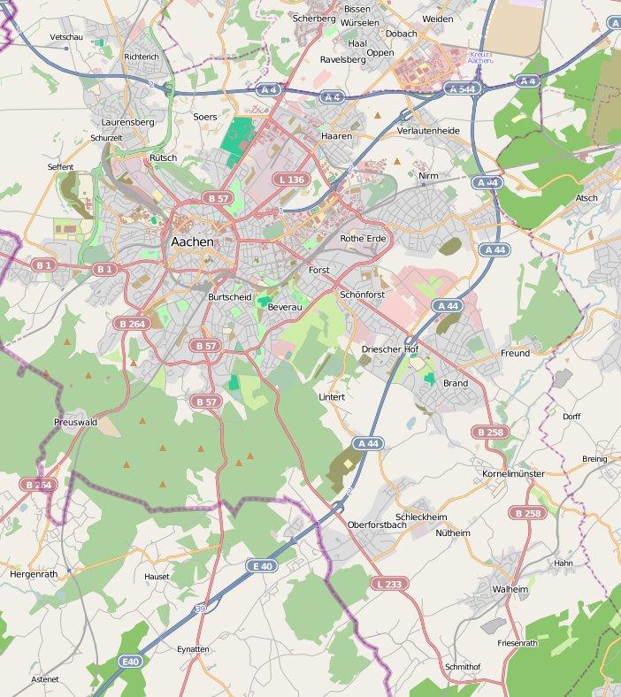 Aachen Karte Stadtteile.Aachen Karte Aerd Digimerge Net